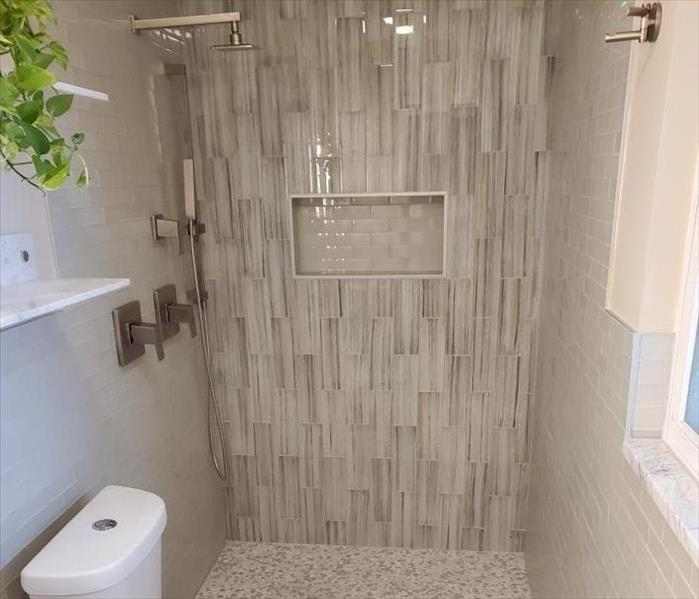 After SERVPRO bathroom remodel!