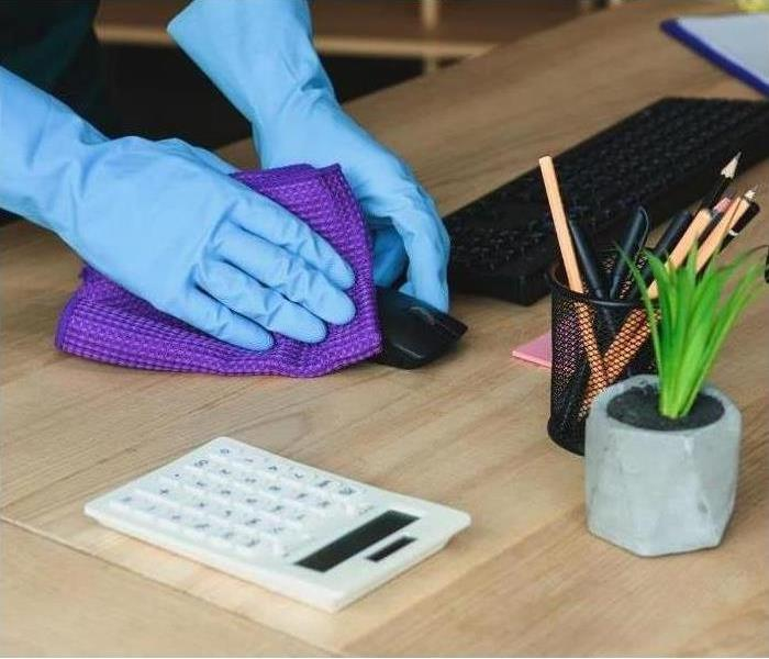 Wipe down and deep cleaning of office materials