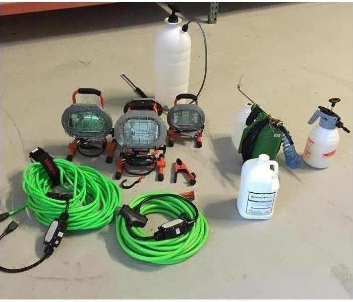 Professional SERVPRO mold mitigation and remediation chemicals and equipment